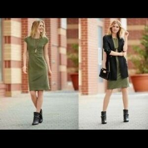 Cato Green Faux Suede Dress